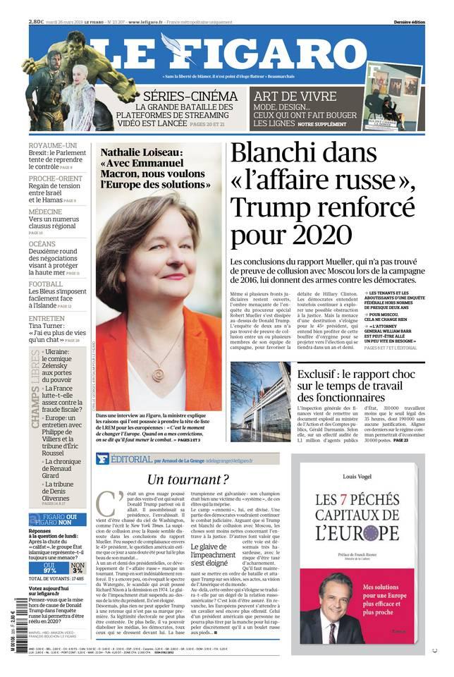 Le Figaro du 26 mars 2019 à télécharger sur iPad