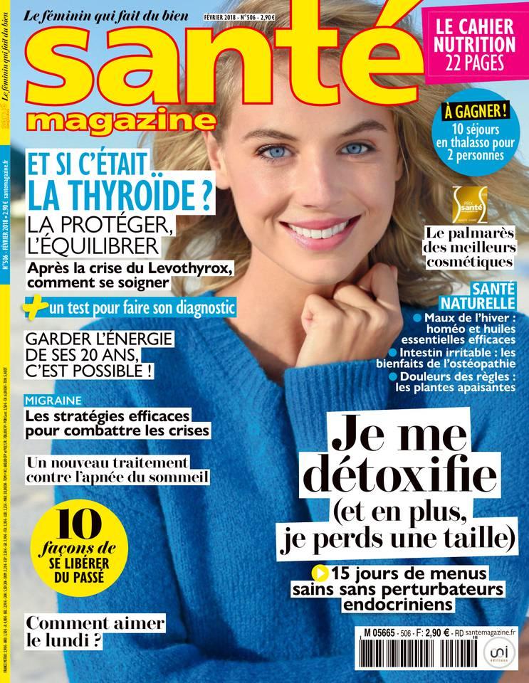 Santé Magazine N°506 du 04 janvier 2018 à télécharger sur iPad