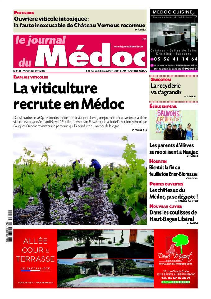Le Journal du Médoc du 04 avril 2019 à télécharger sur iPad