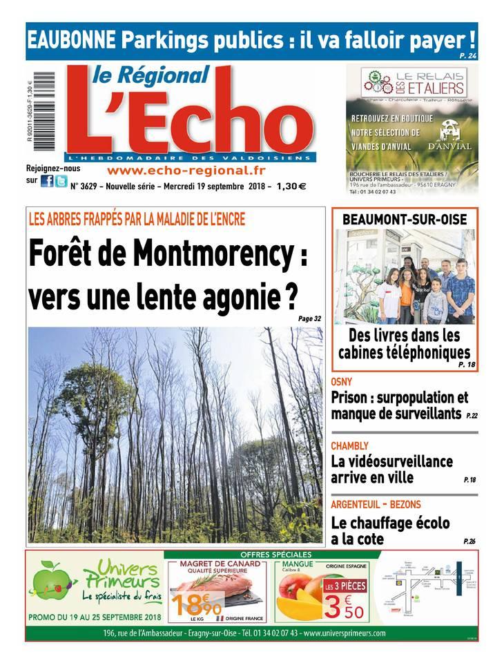 L'Echo - Le Régional du 19 septembre 2018