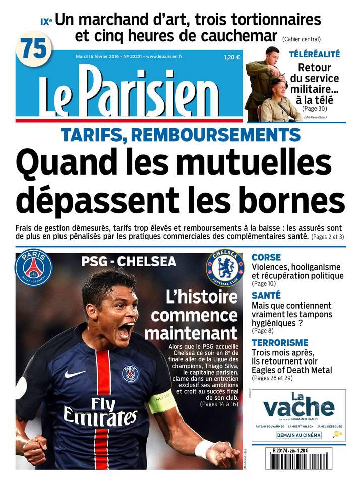 Le Parisien du Mardi 16 Février 2016