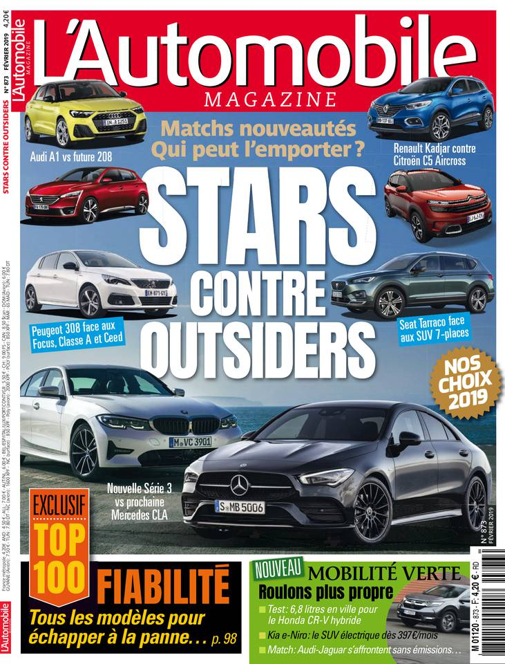 L'Automobile Magazine N°873 du 17 janvier 2019 à télécharger sur iPad