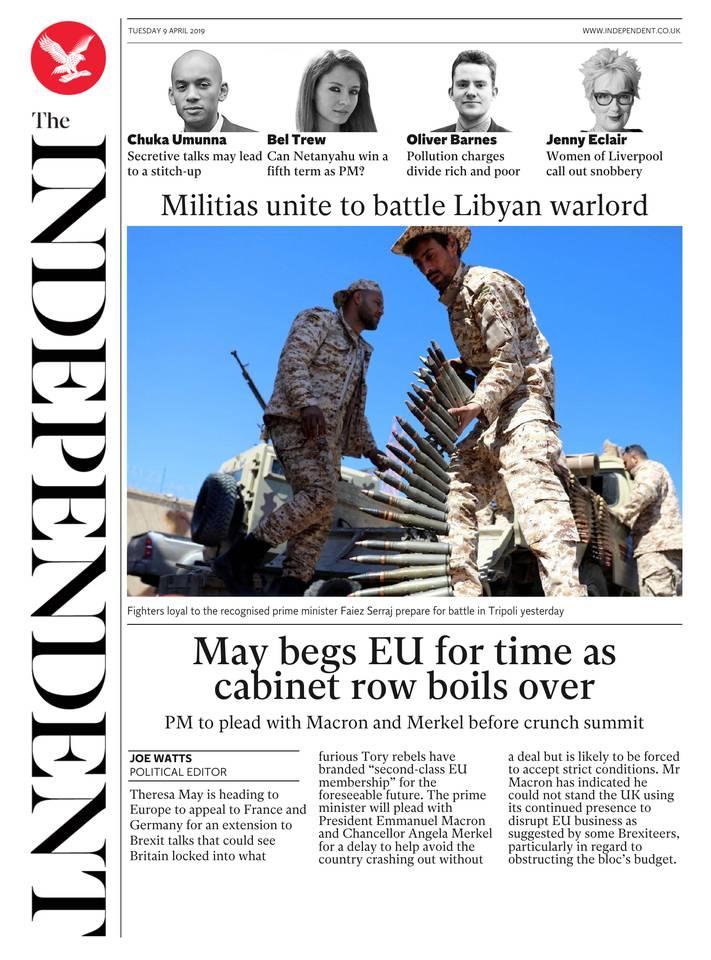 The Independent du 09 avril 2019 à télécharger sur iPad