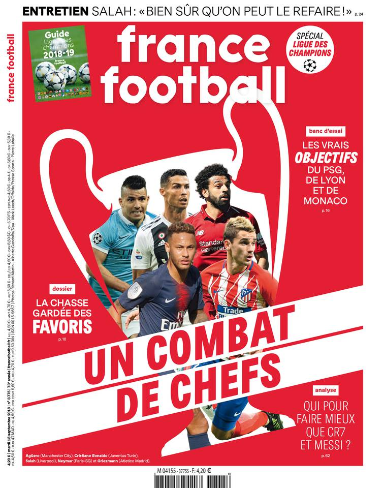 France Football du 18 septembre 2018 à télécharger sur iPad