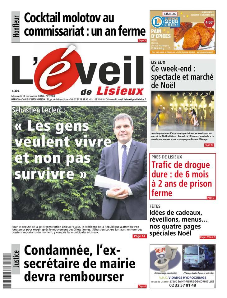 L'Eveil de Lisieux du 12 décembre 2018