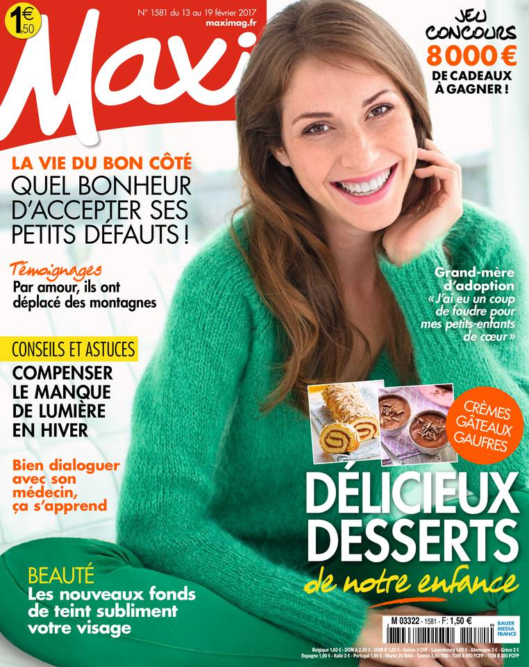 MAXI N°1581 du 13 février 2017 à télécharger sur iPad