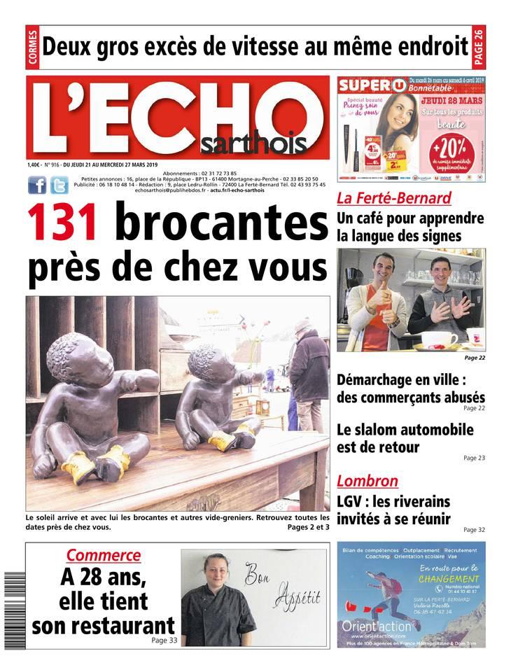 L'Echo Sarthois du 21 mars 2019