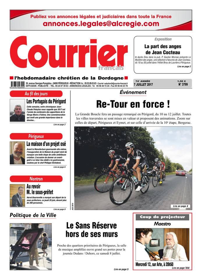 Courrier Français du 07 juillet 2017 à télécharger sur iPad