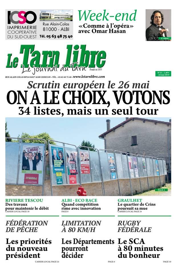 Le Tarn libre du 24 mai 2019