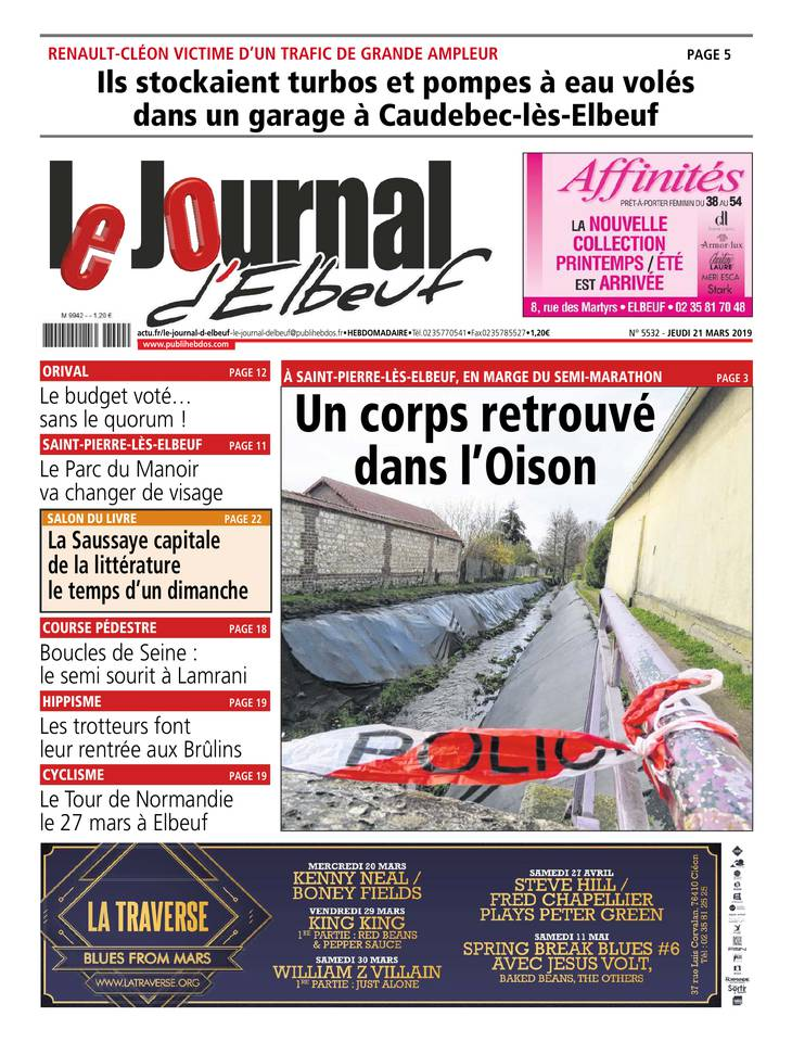Le Journal d'Elbeuf du 21 mars 2019