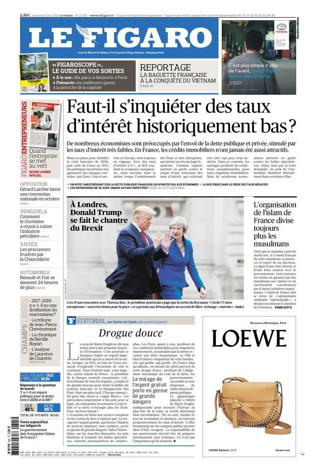 Le Figaro du 05 juin 2019 à télécharger sur iPad