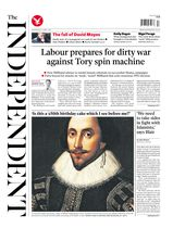 Une - The Independent 23 avril 2014