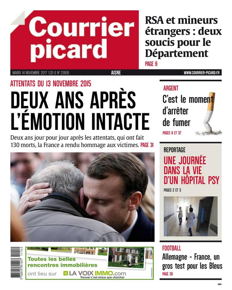 Courrier Picard du 14 novembre 2017 à télécharger sur iPad