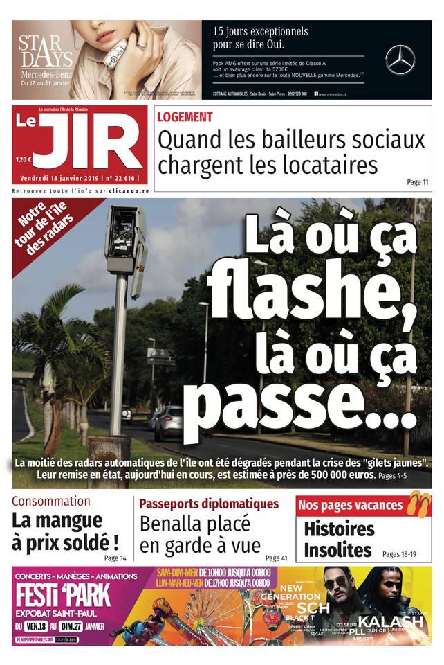 Journal de l'île - Le journal de l'ile de la Réunion du 18 janvier 2019