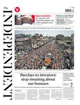 Une - The Independent 25 avril 2014