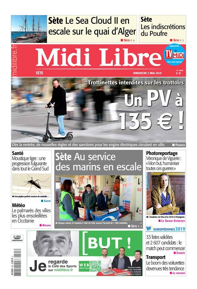 Midi Libre du 05 mai 2019 à télécharger sur iPad