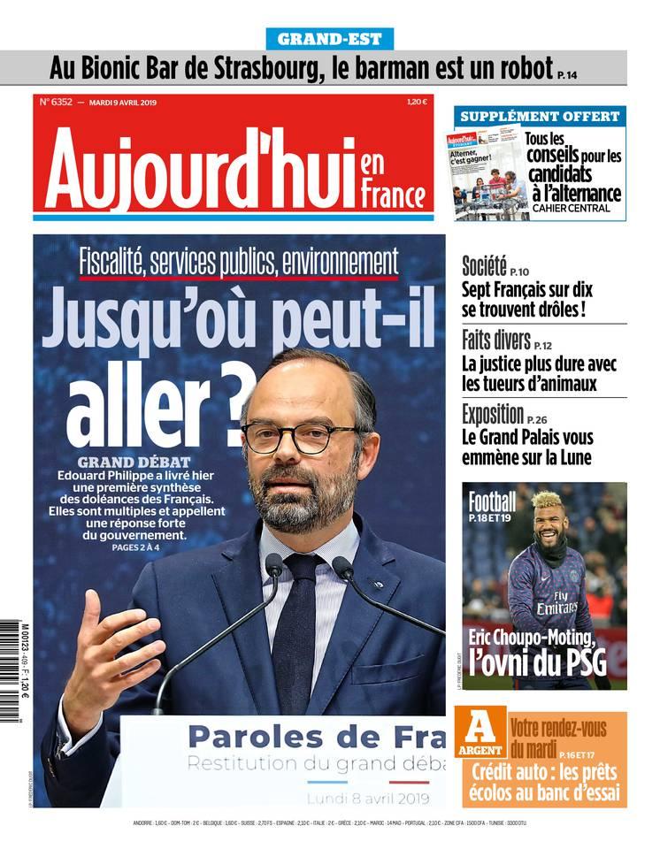 Aujourd'hui en France du 09 avril 2019 à télécharger sur iPad