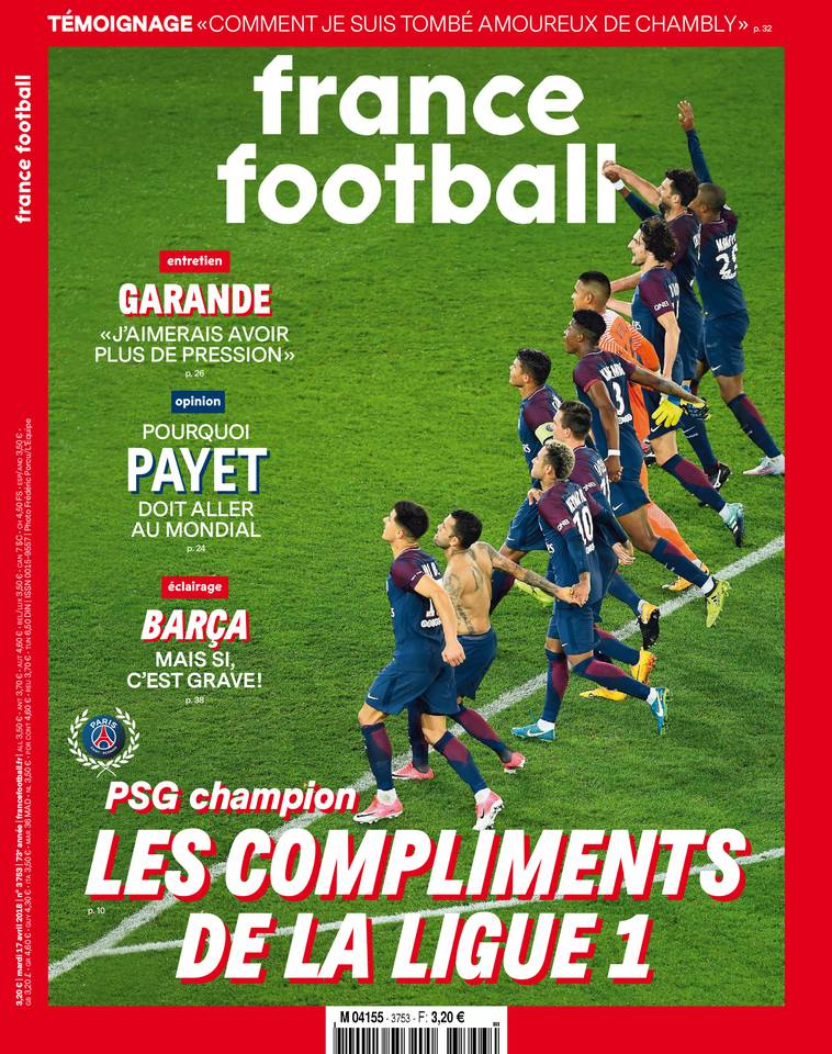 France Football du 17 avril 2018 à télécharger sur iPad