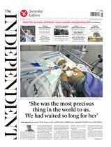 Une - The Independent 12 juillet 2014
