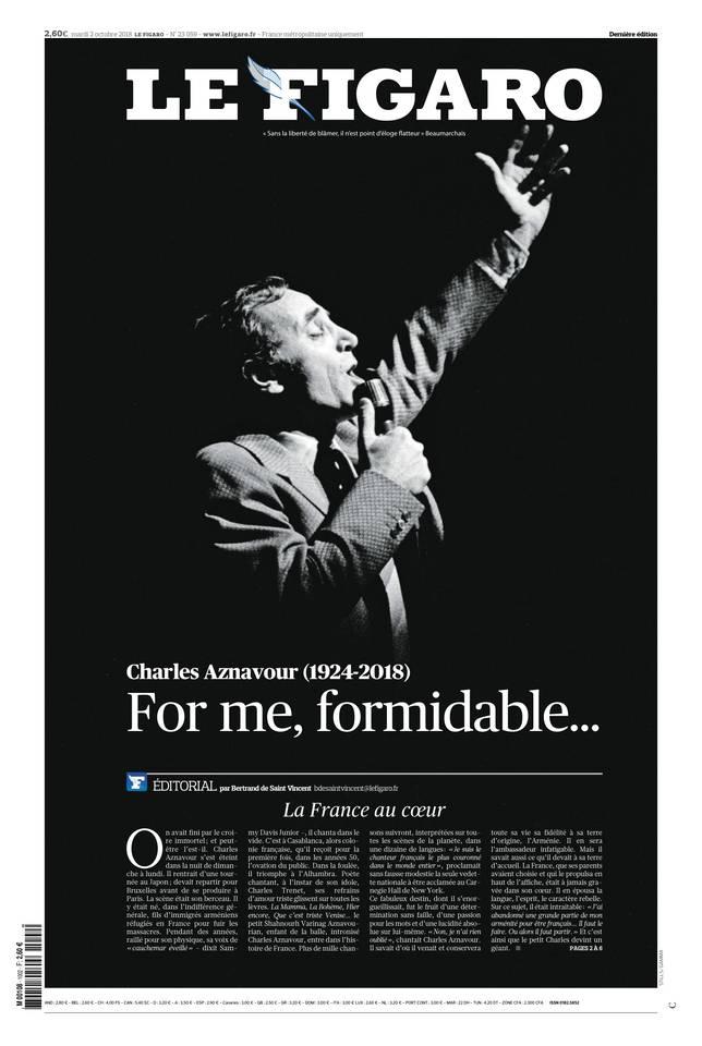 Le Figaro du 02 octobre 2018 à télécharger sur iPad