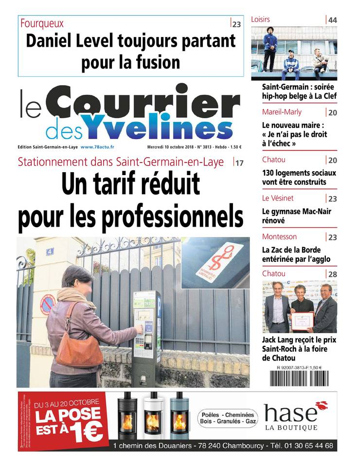 Le Courrier des Yvelines - Saint-Germain du 10 octobre 2018