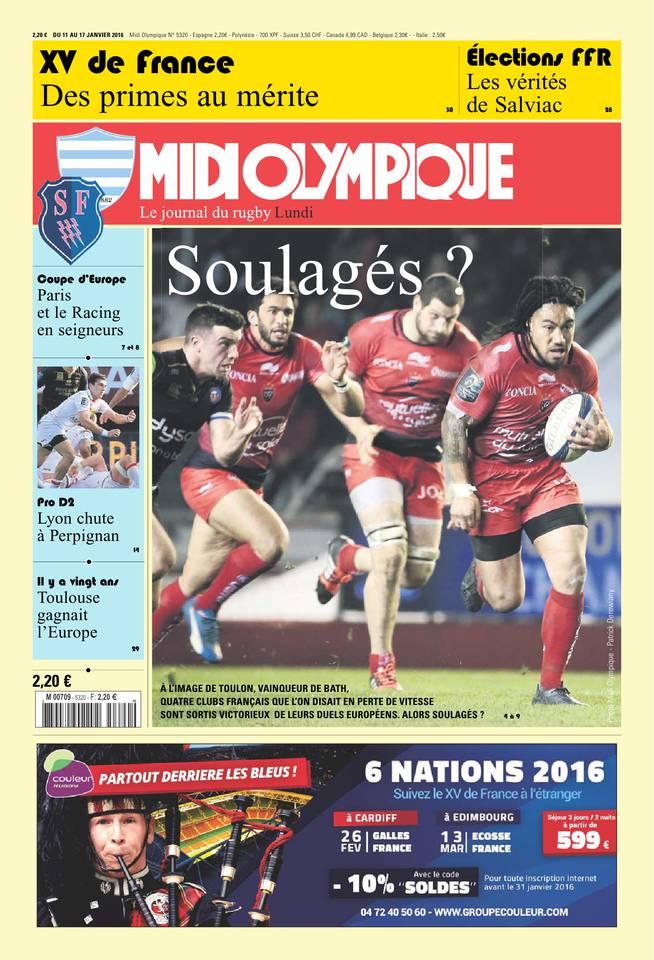 Midi Olympique Rouge du lundi 11 janvier 2016