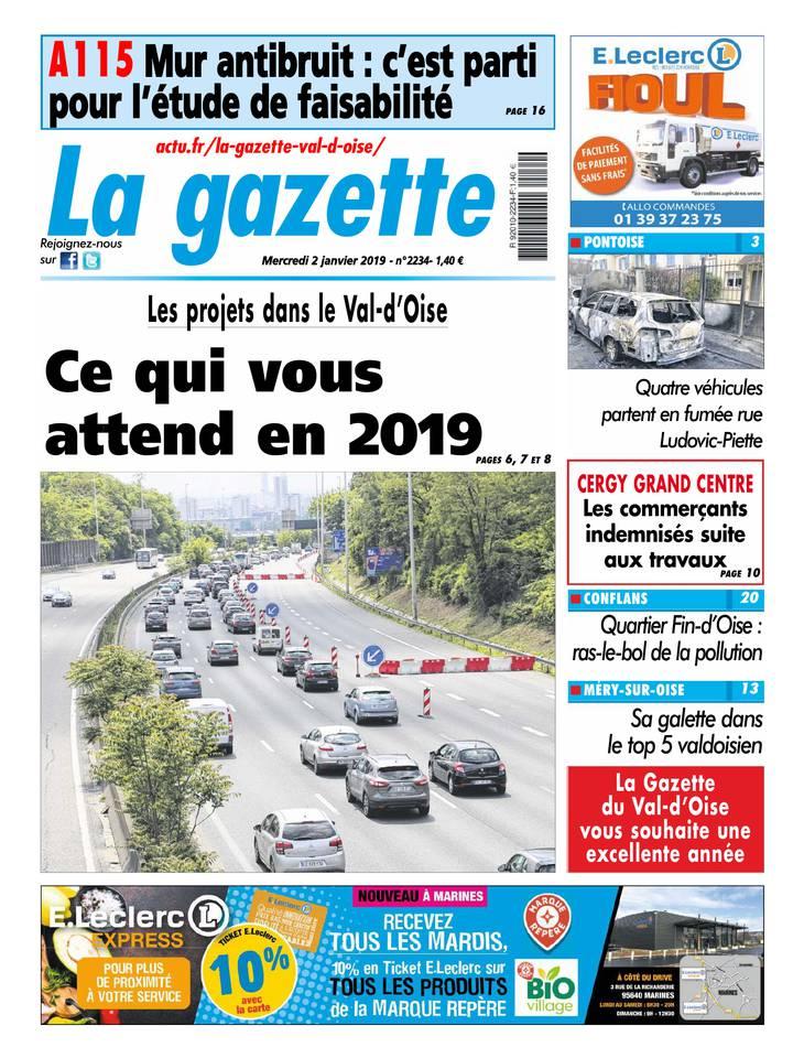La Gazette du Val d'Oise du 02 janvier 2019 à télécharger sur iPad
