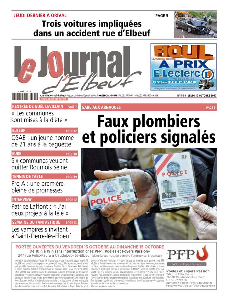 Le Journal d'Elbeuf du 12 octobre 2017