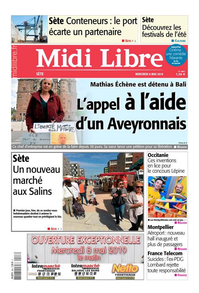 Midi Libre du 08 mai 2019 à télécharger sur iPad