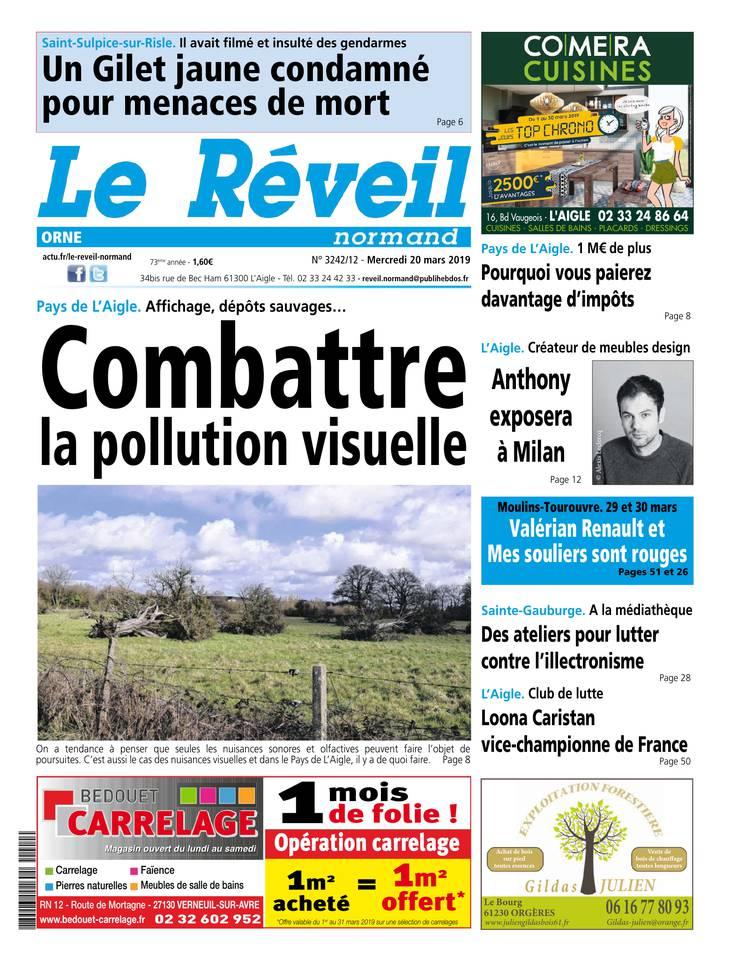 Le Réveil Normand - Orne du 20 mars 2019