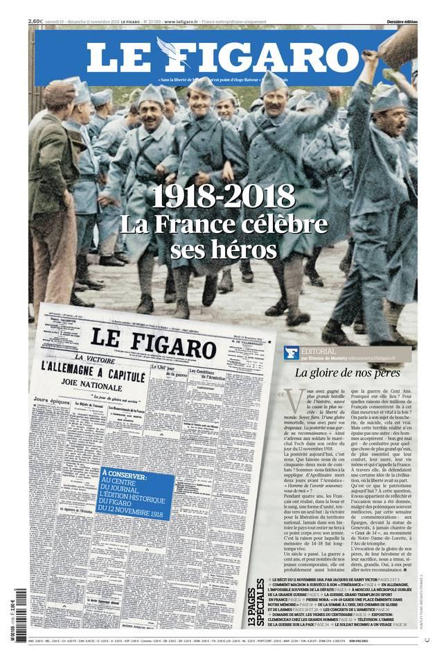 Le Figaro du 10 novembre 2018 à télécharger sur iPad