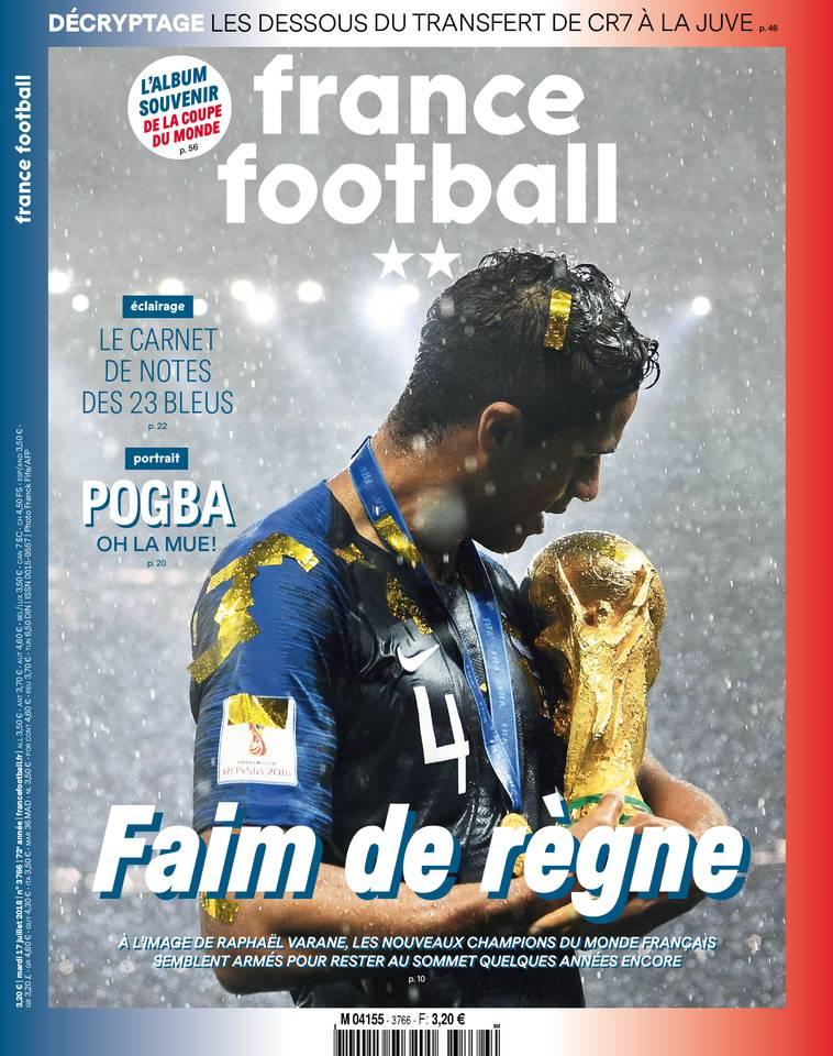 France Football du 17 juillet 2018 à télécharger sur iPad