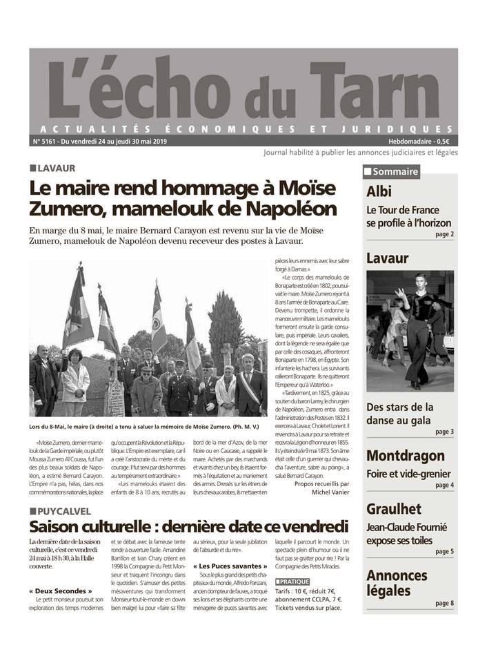 L'Echo du Tarn du 24 mai 2019