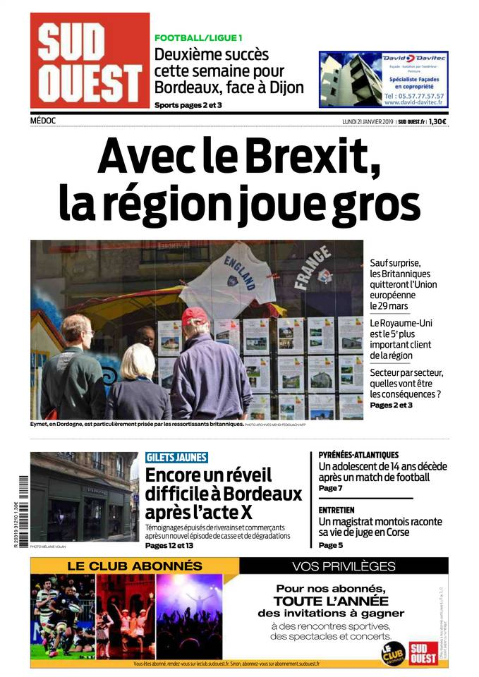 Abonnement Sud Ouest Pas Cher avec BOUQUET INFO ePresse.fr