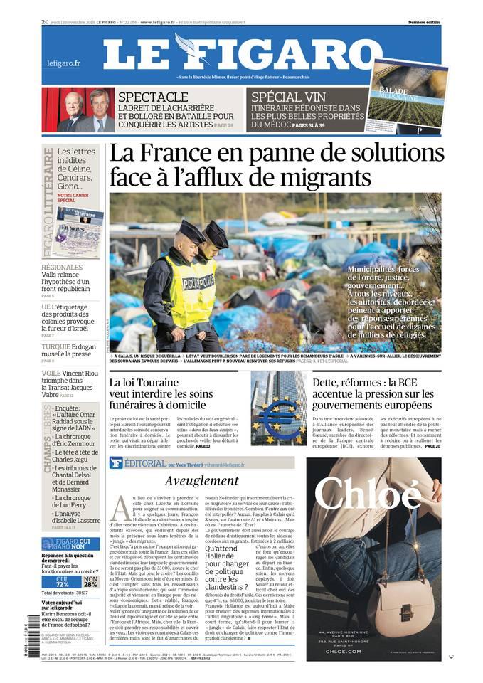 Le Figaro Du Jeudi 12 Novembre 2015