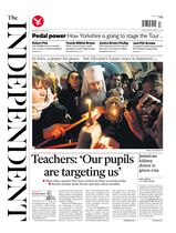 Une - The Independent 21 avril 2014