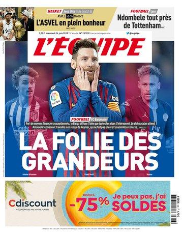 L'Équipe - 26/06/2019 |