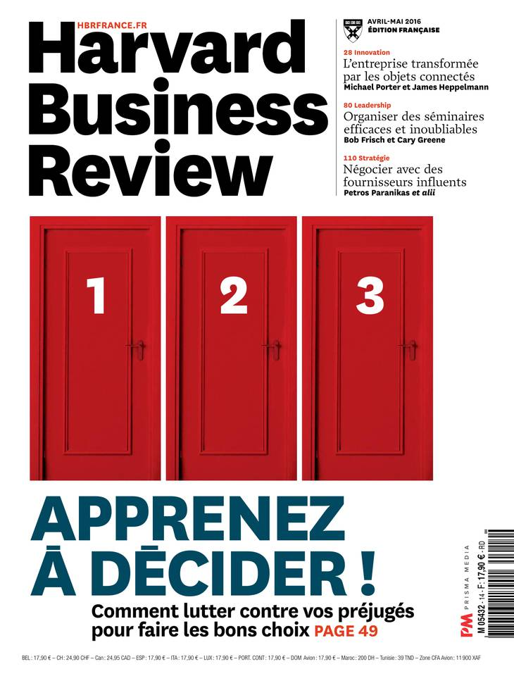 Harvard Business Review N°14 du 10 mars 2016 à télécharger sur iPad