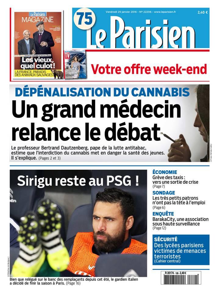 Le Parisien + Jounal de Pariis & Magazine du vendredi 29 janvier 2016