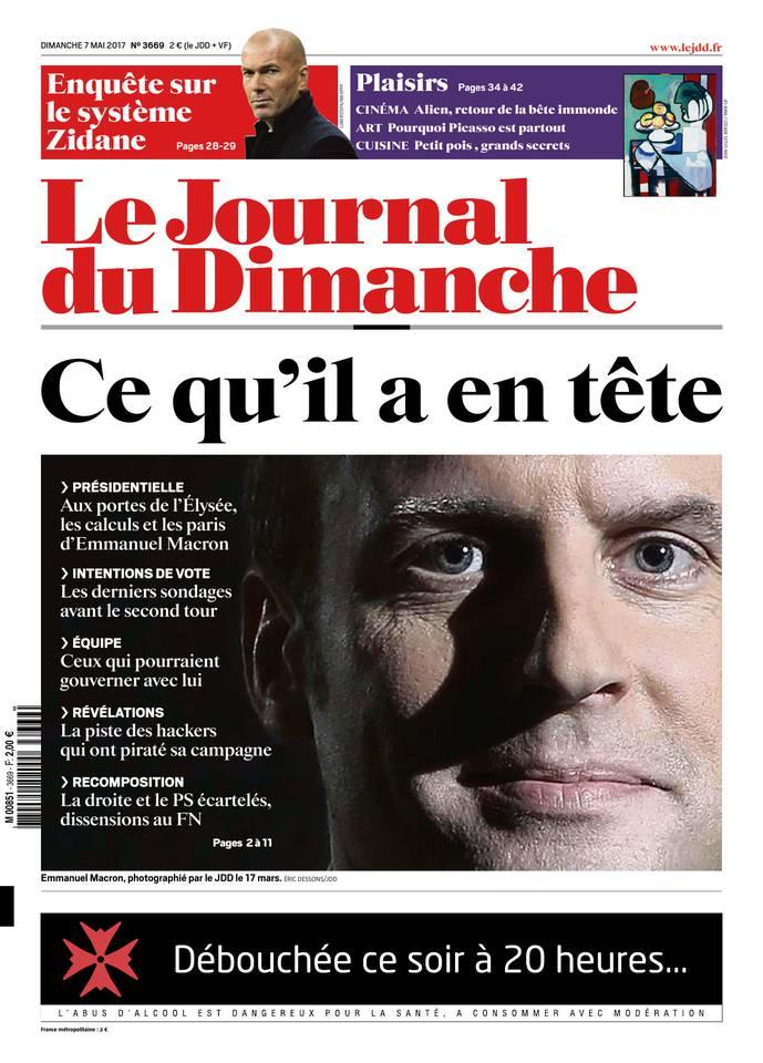 Le Journal du Dimanche N°3669 du 07 mai 2017 à télécharger sur iPad