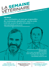 Couverture du dernier numero de La Semaine Vétérinaire