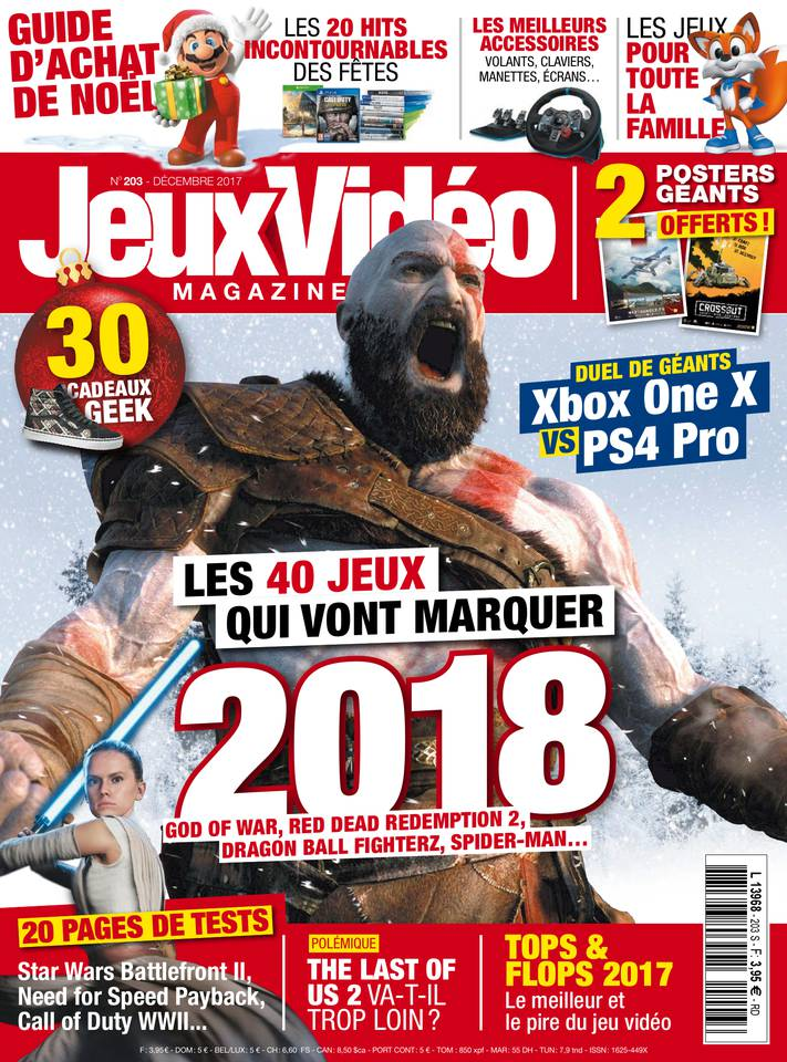 noel 2018 jeux video Jeux Vidéo Magazine N°203 du 24 novembre 2017 à télécharger sur iPad noel 2018 jeux video