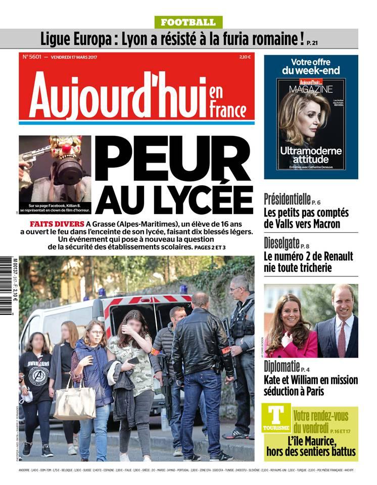 Aujourd'hui en France du 17 mars 2017 à télécharger sur iPad