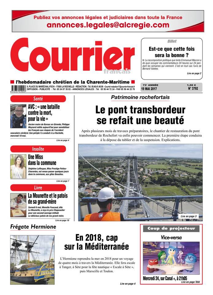 Courrier Français du 19 mai 2017 à télécharger sur iPad