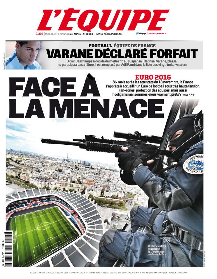L'Équipe du mercredi 25 mai 2016