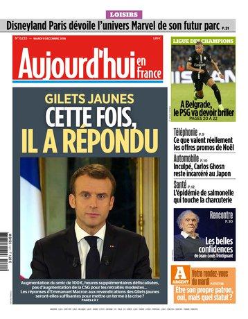 Aujourd'hui en France - 11/12/2018 |
