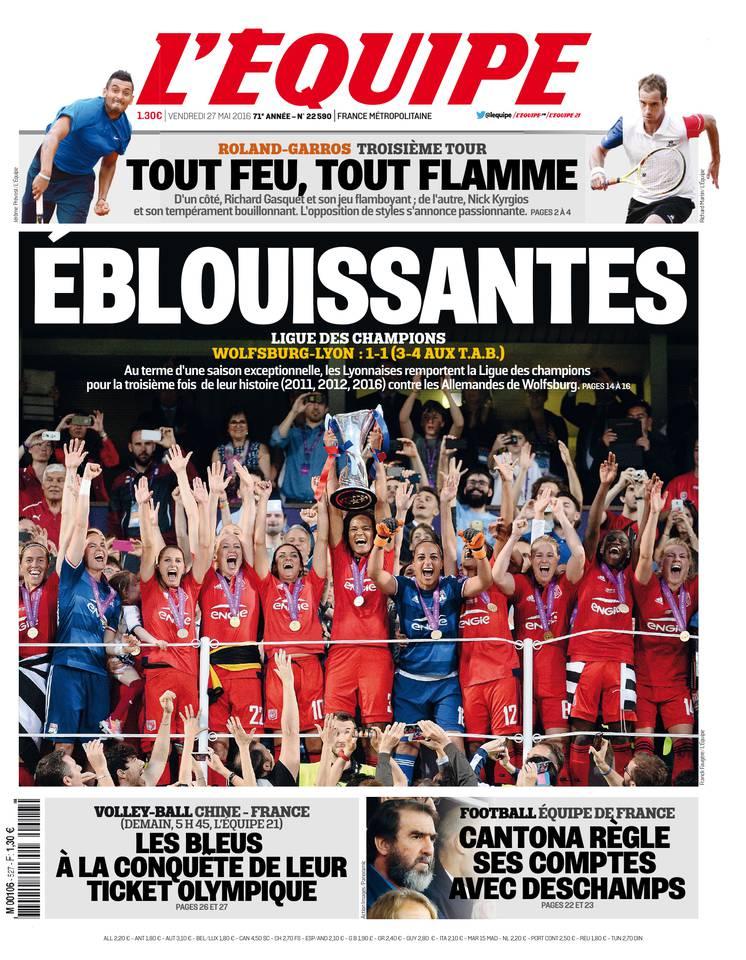 L'Équipe du vendredi 27 mai 2016