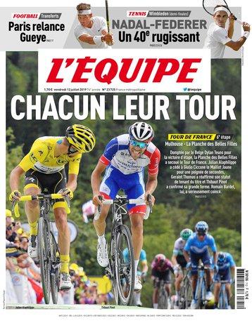 L'Équipe - 12/07/2019 |