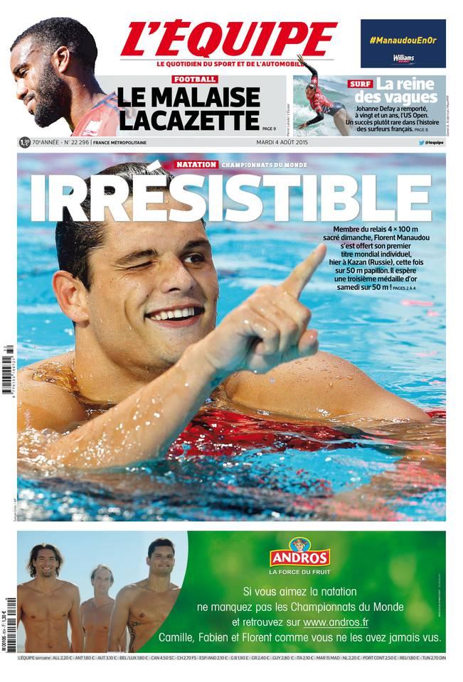 L'Équipe du mardi 04 août 2015