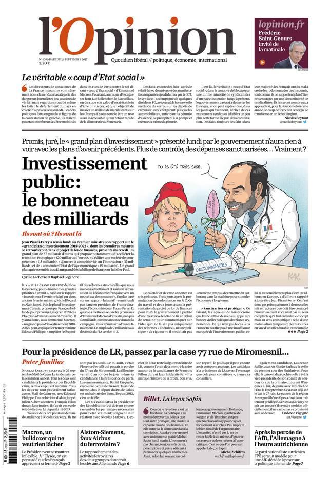 Abonnement à L'Opinion Pas Cher avec le BOUQUET INFO ePresse.fr